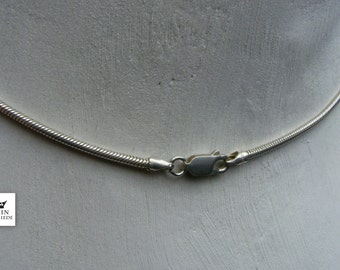 Schlangenkette: 2,0 mm Durchmesser, Karabiner oval oder Ferderring rund