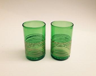 2 Glasses Set, Handmade Tumbler, Recycled Bottle Glasses, Upcycled Glasses, Barware Glasses, Beer Glasses, Water Glasses, Glass Drinkware