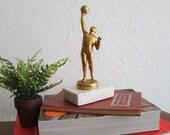 Slam Dunk. Golden Basketball Trophy. Vintage Decor. Modern Decor. Sports Sculpture. Basketball Decor. For Him. Boys Room. Bookshelf Decor.