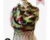 Loom Knitting PATTERNS Scarf Retangular Shawl Pattern EASY -  The Mock Mesh - Includes Video Tutorial
