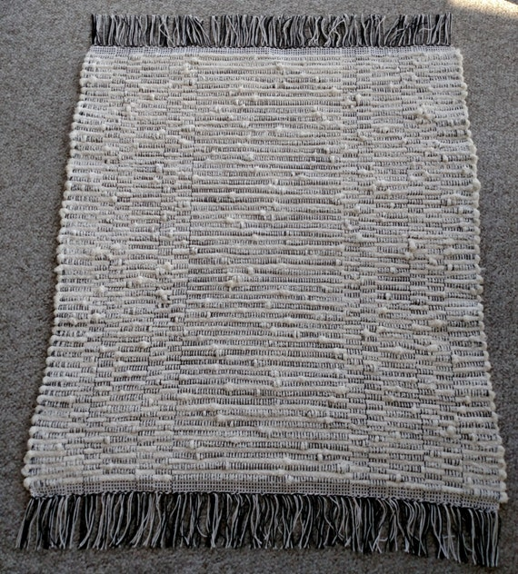 Spa Rug Zebra Black And White Natural Cotton. 1610