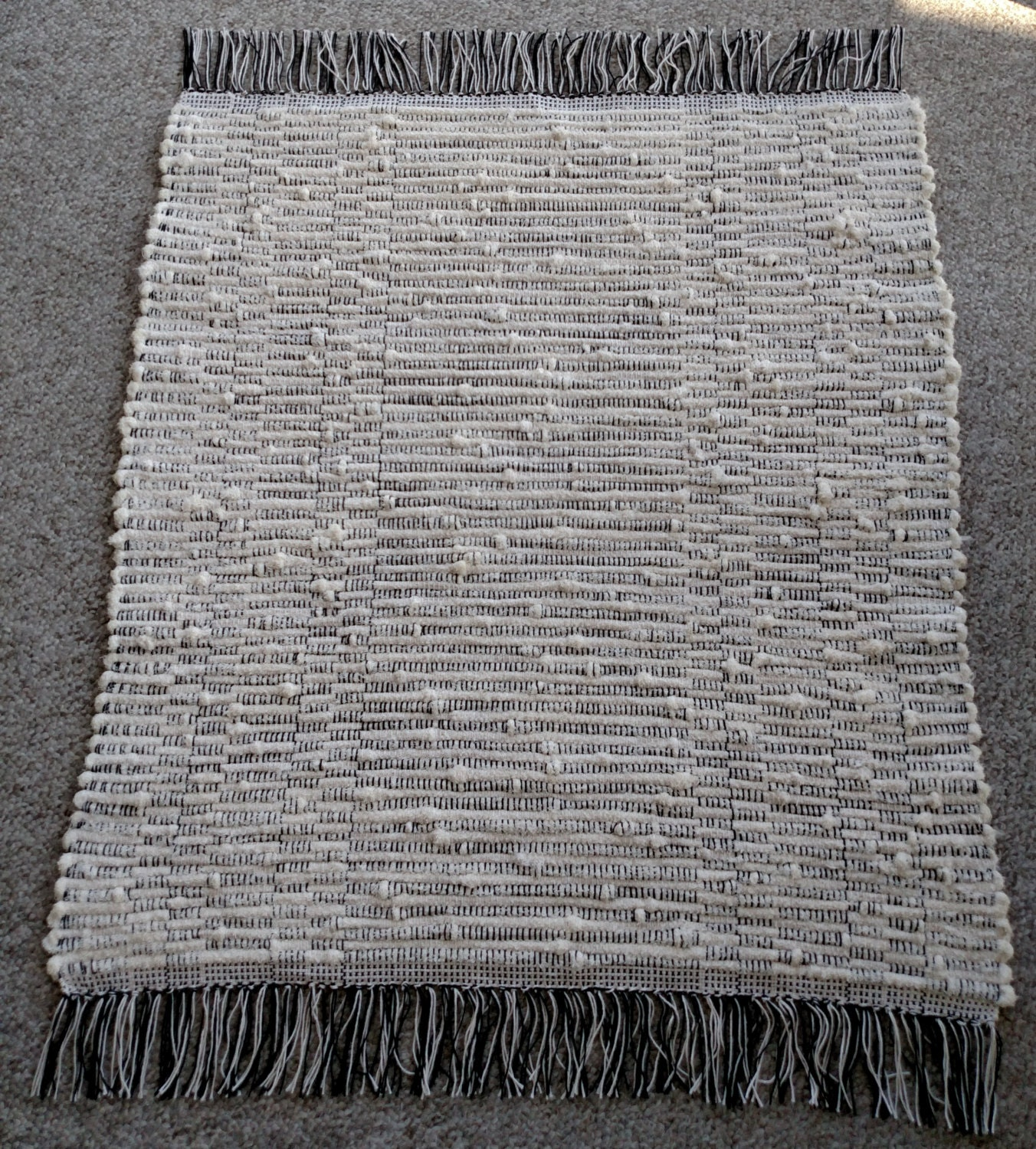 Spa Rug Zebra Black And White Natural Cotton 1610