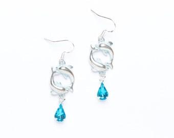 Dolphin Earrings | Beaded Dolphin Earrings | Nautical Earrings | Dolphin Jewellery |