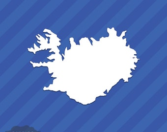 Iceland Country State Outline Vinyl Decal Sticker