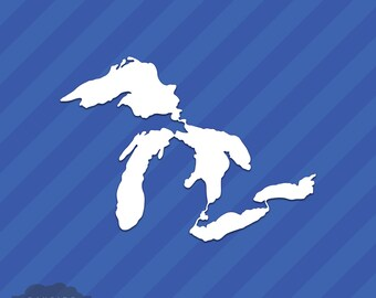 Great Lakes Outline Vinyl Decal Sticker