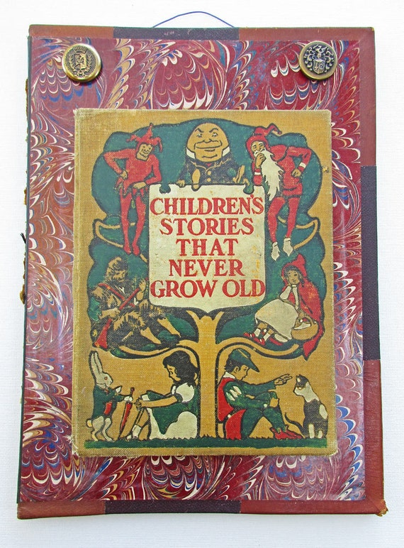 Book Cover Decoration For Kids : Altered book art decor antique covers