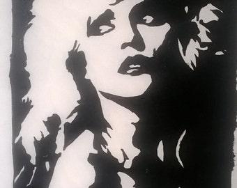 blondie Debbie harry handpainted to order a4 canvas