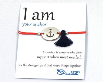 anchor bracelet, nautical bracelet, navy wife, navy girlfriend, marine mom jewelry, I AM jewelry, sisters bracelets, BFF friendship bracelet