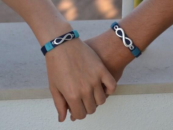 pulseras parejas infinito, pulseras a juego, regalos de boda, conjunto de pulseras infinito