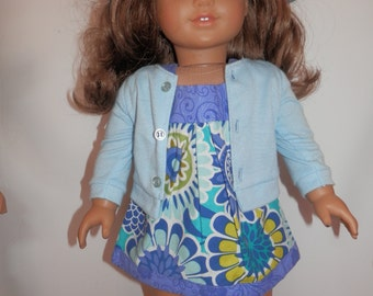 Three piece outfit for The American Girl Doll