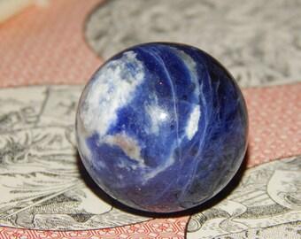 Genuine SODALITE ORB - Genuine Sodalite Gemstone Sphere - 30mm Gemstone - Metaphysical Crystals - Chakra Stones - Healing Gemstones