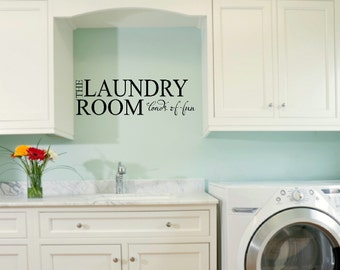 Laundry Room Decals Etsy - Wall decals laundry room