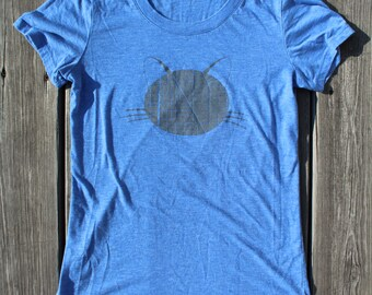 Ladies Cat Map T-Shirt