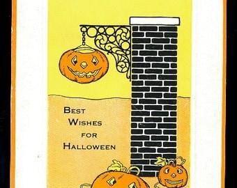 1922 Jack O Lanterns - JOLs Halloween Postcard