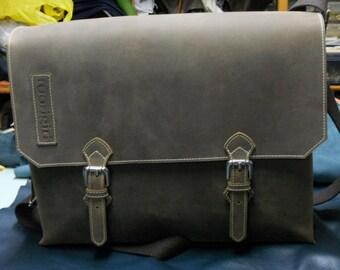 distressed leather folder