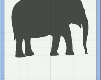 Elephant Cutting file. SVG & Scut3 file formats included. Sizzix / Cricut / eCal / Sure-Cuts-a-Lot
