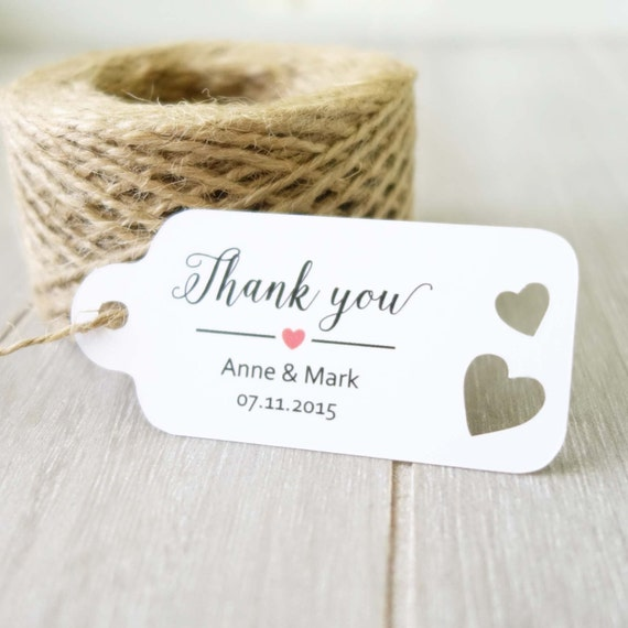 Gift Tags For Wedding Favors Australia : Wedding Tags ~ Thank You Tag ~ Customised Name Tags ~ Gift Favour Tag ...