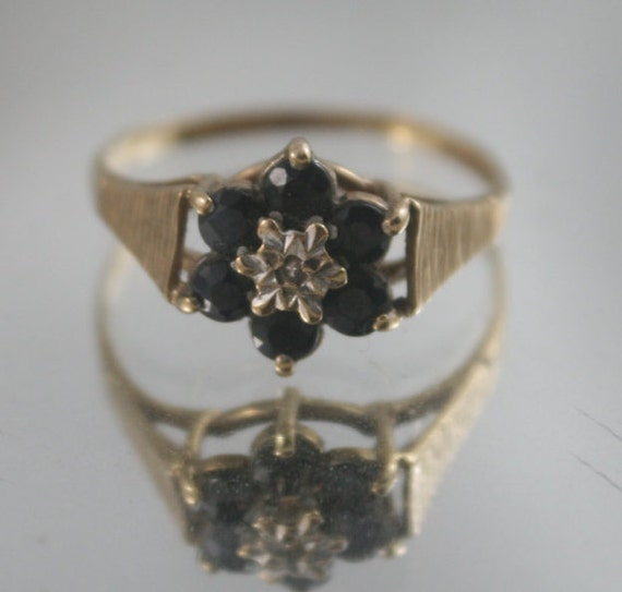Sapphire Ring With Star Hallmark Stamp Inside 24
