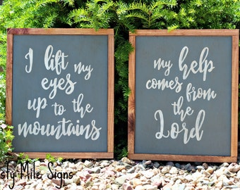 Bible Verse Sign, Wooden Sign, Rustic Sign, Psalm 121 Sign