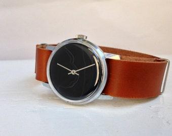 """Stone watch, Marble watch , Soviet watch, Gemstone watch ,Vintage watch, Russian watch, Mens watch """"Victory"""""""