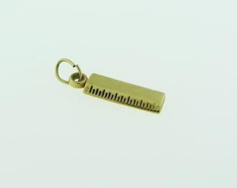 Yellow Gold Ruler Pendant/Charm