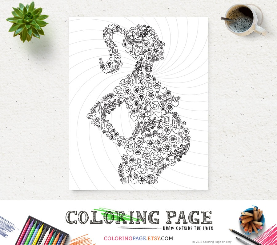 Coloring Page Mom To Be Printable Art Instant Download