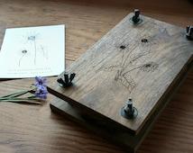 Black Walnut Flower Press - Handmade in Portland Oregon
