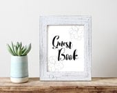 Guestbook Wedding signage/Wedding Sign/Printables/Instant Download/Black and white/Minimal/DIY Wedding/Reception sign/Flower/Floral/AP28
