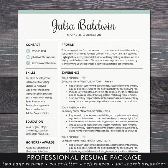 Professional Resume CV Template Mac or