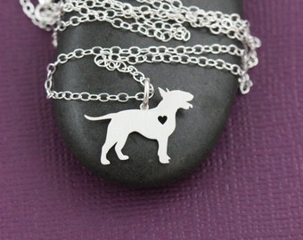 SALE - Bull Terrier Necklace - Terrier Pendant - Silver Dog Necklace - Dog Breed - Rescue Dog - Personalized Jewelry - Handmade Dog Jewelry