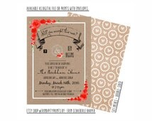 "ABC's ""The Bachelor"" Finale Viewing Party Invitation - Digital File OR Prints with Envelopes"