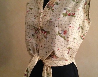 50's Tropical Blouse