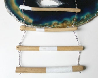 SALES - Nurit II - Handpainted driftwood necklace