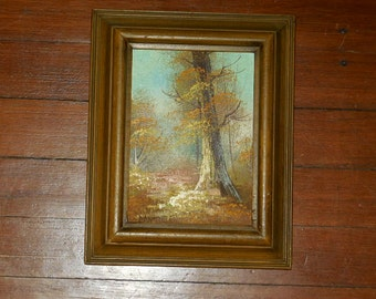 Small oil landscape paint signed Cantrell