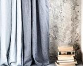 Dark grey/ graphite. Washed linen curtains/ linen drapes in dark grey/graphite