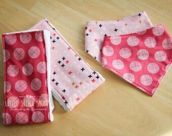 Bib Bandana & Burp Cloth Set, Shower Gift, New Baby Gift