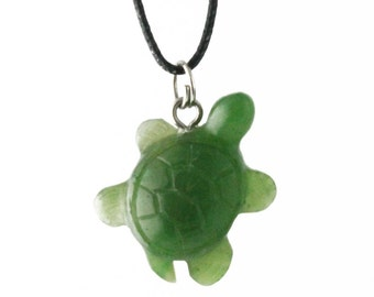 Canadian Nephrite Jade Pendant, Turtle 1543-1