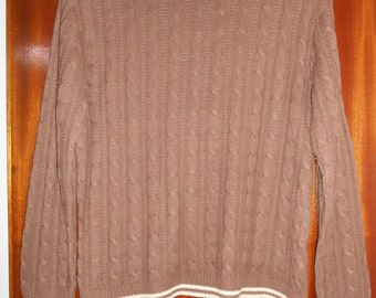 Vintage Retro 1970s St Michael Chocolate Brown Jumper Sweater UK Size 14 16