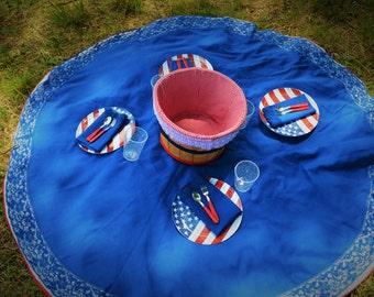 Peach Basket/Blanket Picnic Set- Simply American