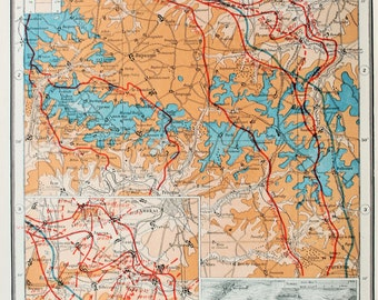 Antique Military Map : The Western Front, Cambrai & Bourlon Wood - WWI, Great War, First World War. Harmsworth c. 1919