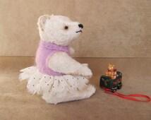 Teddy bear, handmade, author's toy, OOAK, artist teddy bear, stuffed & plush animals, collectable jointed bear, unique