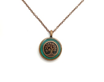 Tree necklace / nature jewelry / copper necklace / tree jewelry / meaningful jewelry / family pendant / nature necklace / mother's day
