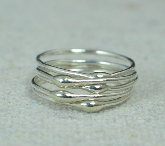 unique silver stacking ringssilver ringshippie rings boho
