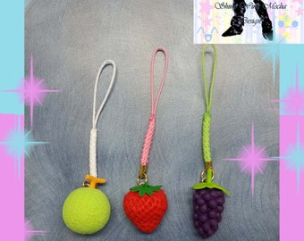 Fruit Cell Strap Charm - You Choose