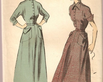 VINTAGE Advance Sewing Pattern 5217 - Women's Clothes - Dress, Size 12