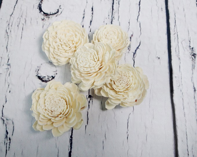 "Sola Flowers Wedding decor white ivory diy bouquet floral supply natural table decor favor rustic belly 25 pcs 6cm 2 23⁄64"""