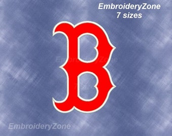 Boston Red Sox Applique Embroidery Design Emblem Baseball team MLB. 7 Sizes Hoop 4x4 5x7 6x10 7x11 Red Sox Boston baseball logo