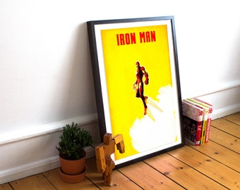 Iron Man Minimalist Art Print Poster - Marvel -  (Available In Many Sizes)