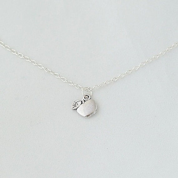 Delicate Necklace, Apple Necklace