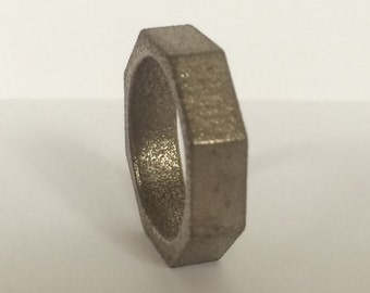 6mm Mens Steel Wedding Band Nut And Bolt By UntilDeathWedRings